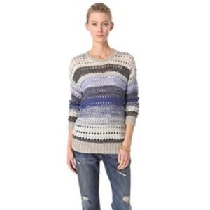 Joie Arvia Striped Pullover Sweater L